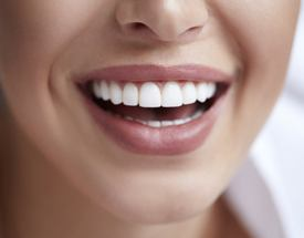 attractive woman smiling perfect teeth