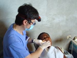 Dr. Lee treating young boy