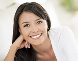 Woman with flawless beautiful smile