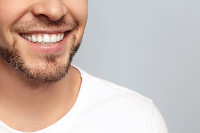 Man after cosmetic dentistry in Canton